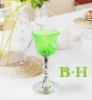 BH800836 glass votive holder with metal stand