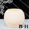 BH070107 White Hollow Ball Wax Candle Holder decorative candle holder