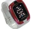factory price  Watch Phone M860 Phone with Stereo Bluetooth Headset Dual Sim Dual Standby Tri-band