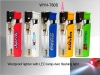 Windproof Lighter with LED lamp+two flashing light
