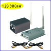 1.2G 3000mW 12 CHS wireless receiver and AV transmitter RF61