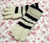 knitted wool glove