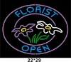Florist Open neon sign with logo