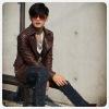 Jacket of  Men's Fashionable Motorbike leather Garment F87