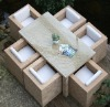 rattan dining table and chair 025-F-036