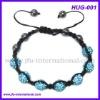 Fresh Trendy Blue Shamballa Bracelet