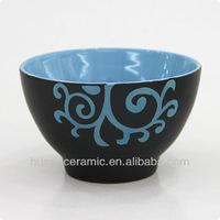 Silkscreen ceramic rice bowl wholesales