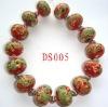 scroll flower glass beads