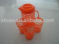 plastic jug&4 cup set