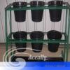 metal flower pot shelf