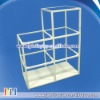 Three tiers metal display rack with metal base