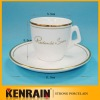 porcelain coffee cup and saucer/ coffee cup and saucer set