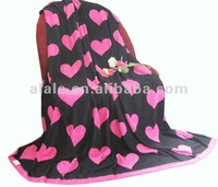 100% printed heart-shaped cotton towelling coverlet for bed