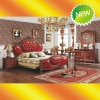 EX021 2012 Classic luxury bedroom furniture solid wood bed (Rose)