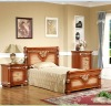 Mid-east antique style chestnut brown color Children bedroom sets furniture DZ-8807