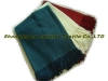 BF002-Herringbone Bamboo Fiber& Cotton Mixed Throw,Bamboo Fiber Throw, Bamboo Throw, Throw