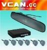 VFD Rearview Mirror LED Display OEM wireless Parking Sensor /VCAN0393-2