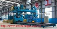 high productivity steel profiles shot blasting machine