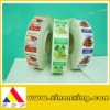 xiamen food adhesive sticker label sticker food warning adhesive