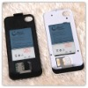 dual sim battery case for iphone4 iphone4s with extra card supporting GPRS MMS SMS