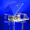 Free shipping Blue Crystal Piano birthday souvenirs