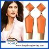 design gold earrings tops gold filled wholesale lapis orange enamel earring