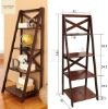 Wooden Tower Bookshelf Organizer