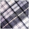 cheap black white cvc printed flannel fabric