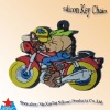 motorcycle shape rubber key ornament