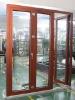 Waterproof wood aluminum composite folding door