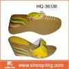 wood heel/wedge sandal