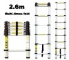 2.6m quality aluminum telescopic ladder with EN131 Approval