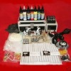 2 gun 7 colors ink Yinyang power supply Complete tattoo kit HTA002