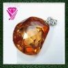 Semi-precious Cubic Zirconia Gemstone Pendant
