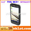 "THL W2+ MTK6577 512M 4GB 1.0Ghz Android 4.0 4.3"" Screen 3G GPS 8MP Camera"