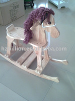 3-8 years old wooden horse toys 90*28*70cm wood colors