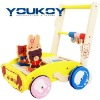 animal wooden educational baby walker