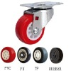 caster wheel with/without brake (Light duty, polyurethane)