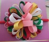 Girl Boutique Fireworks Korker Ribbon Ponytail Bow