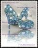 new wedding light blue color jewelry & swarovski crystal high heel pumps peeptoe / open toe 5,6,7,8,9,10,11,12