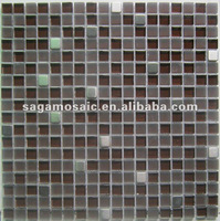 China Glass and Metal Mixed Mosaic