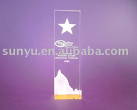 clear acrylic award