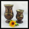 Cheap Beautiful Handmade Glass Mosaic Gift Vase for Home Decoration or Wedding