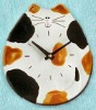 innovative design cat ceramic clock