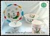 4pcs round kids porcelain dinnereware sets
