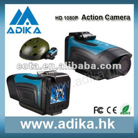 2012 New Aliexpress Waterproof Camera 1080P HD with Screen ADK-S802A