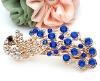blue hair clip, blue crystal hair jewelry, hair clip blue color
