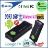 allwinner A10 1GB DDR3 Flash 10.3 MK802 Mini PC Mini Android4.0 dongle android IPTV google tv smart android box