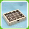 natural wooden tea box