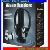 Wireless Headphone With FM Radio Black